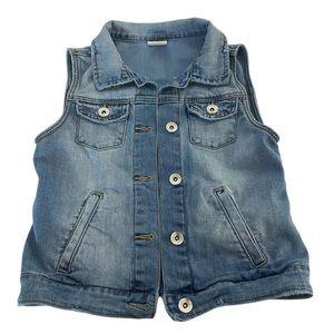 ZARA Girls Casual Collection Denim Vest